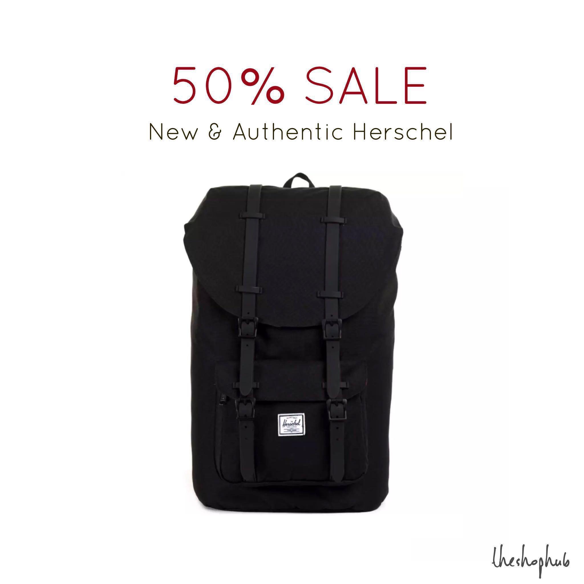 dbe0ebc7d0  CHEAPEST  Authentic Herschel Little America Backpack- Black