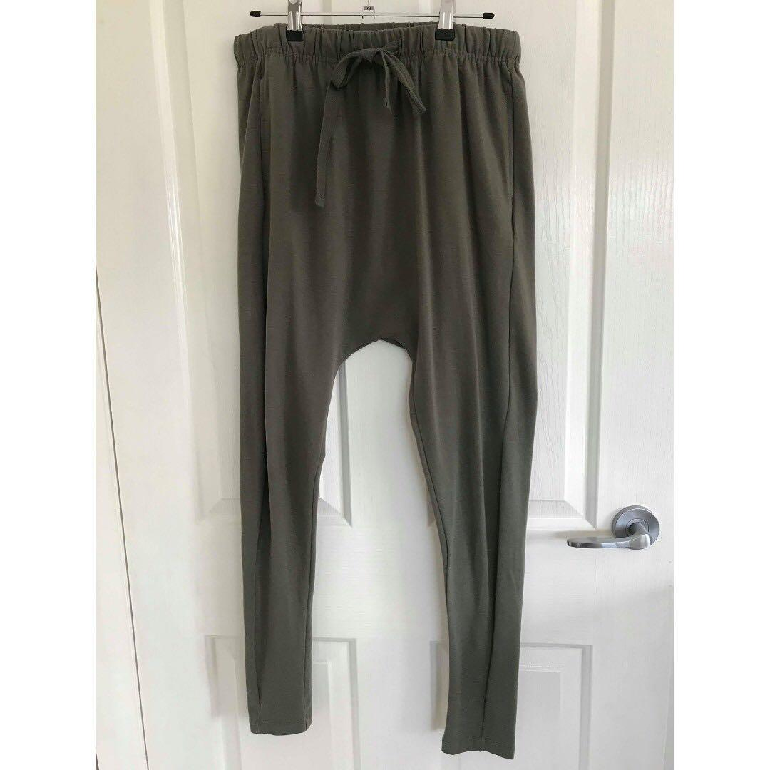 Decjuba drop crotch pants khaki