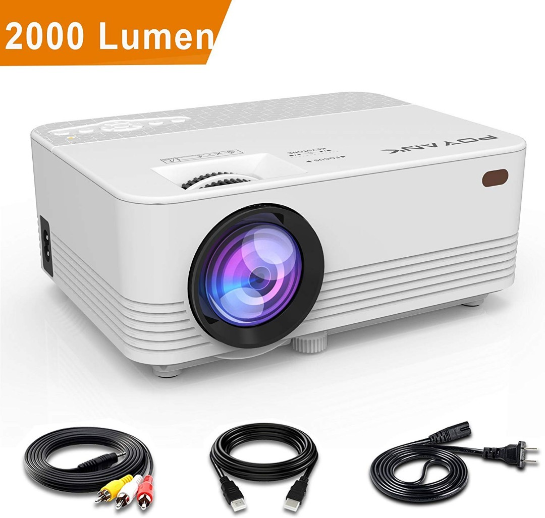 01bcb65af1f E365) POYANK 2000LUX LED Mini Projector, LCD Projector Works with ...