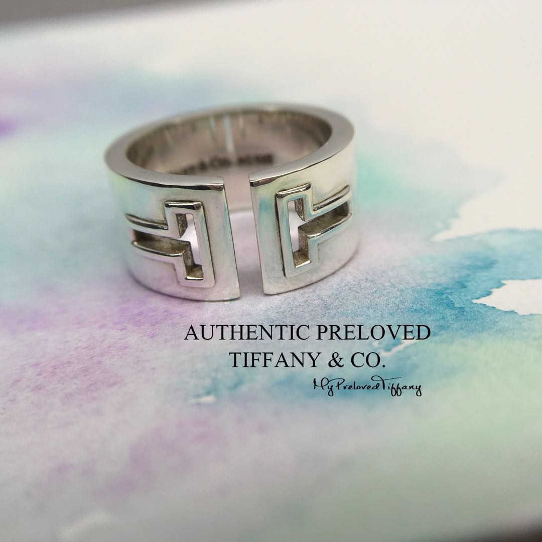 e68238941 Excellent Authentic Tiffany & Co. T Cutout Silver Ring #7.25 40% off ...