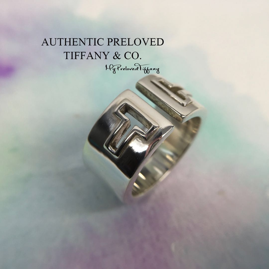 c8a838726 Excellent Authentic Tiffany & Co. T Cutout Silver Ring #7.25 40% off  Retail, Women's Fashion, Jewellery, Rings on Carousell