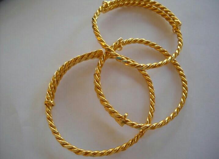 Gelang emas 916 lelong/50gm/segram rm155, Luxury, Accessories on Carousell
