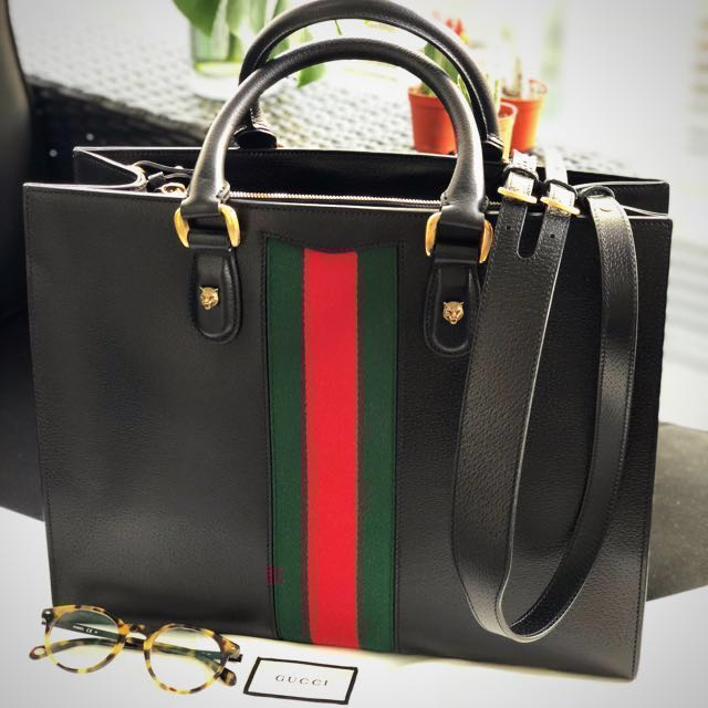 9bbb53c1f5bc Gucci messenger portfolio bag