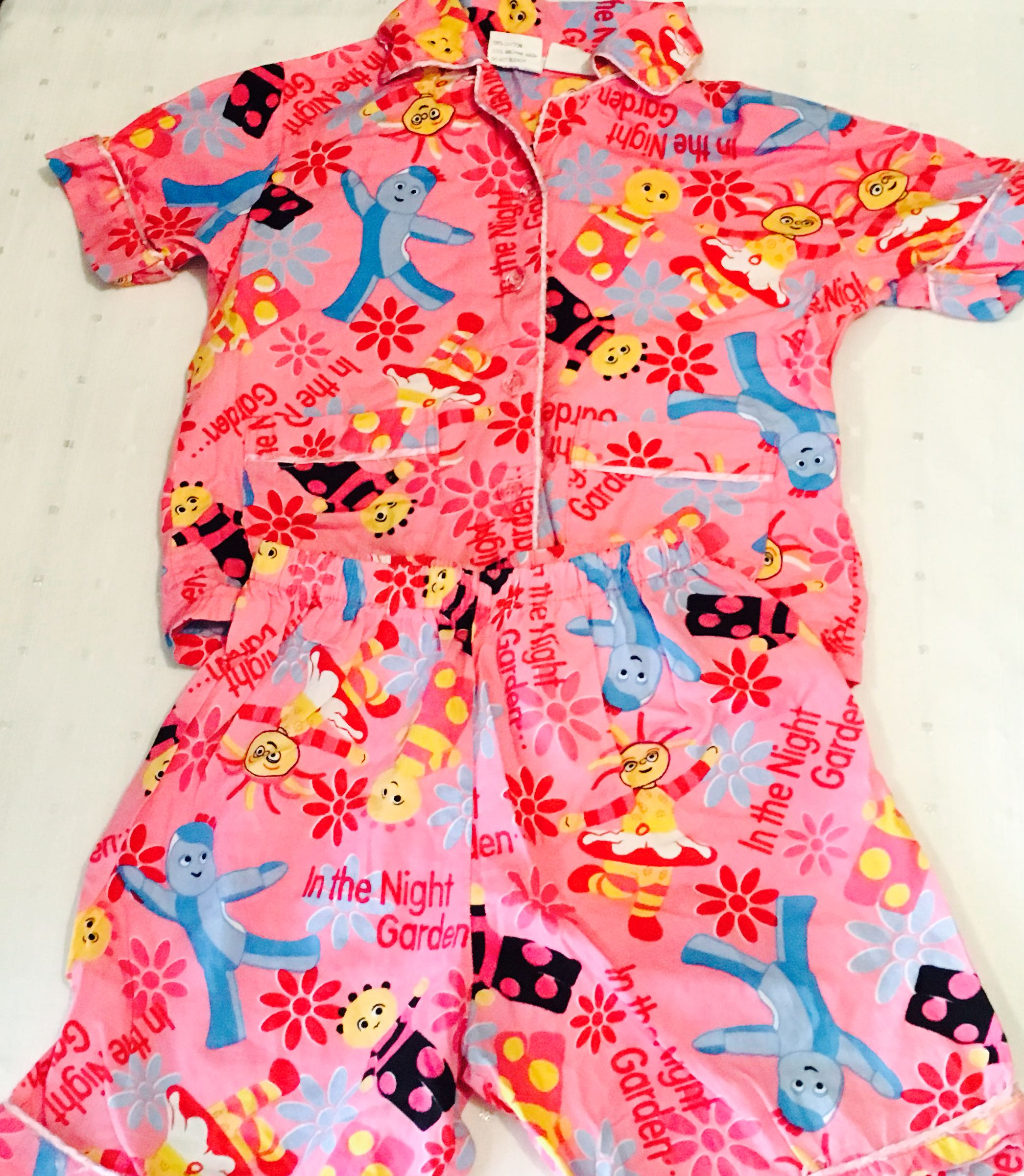 f463dbcc8 In the Night Garden Girls Pajama Top Shirt Polo Shorts Set Size 4 ...