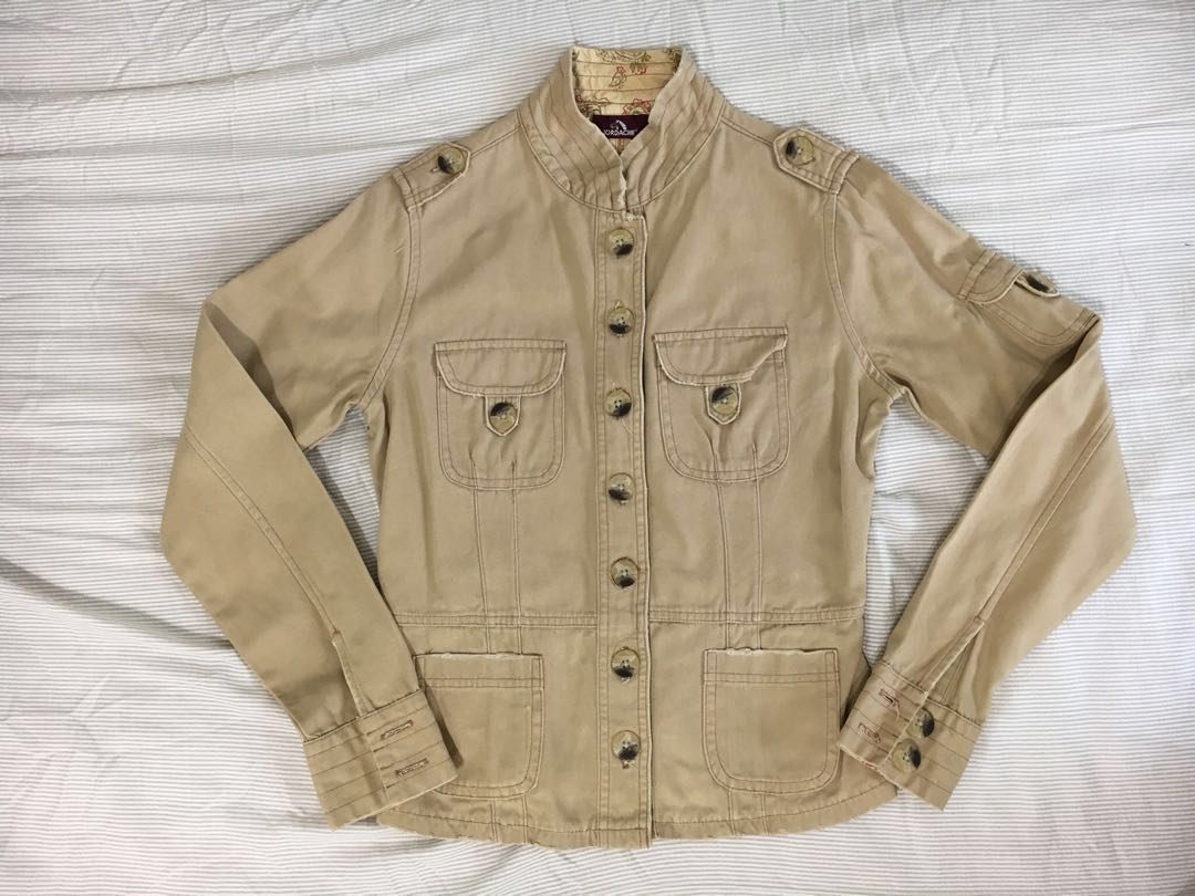 9062eb170c Jordache khaki 100% cotton jacket