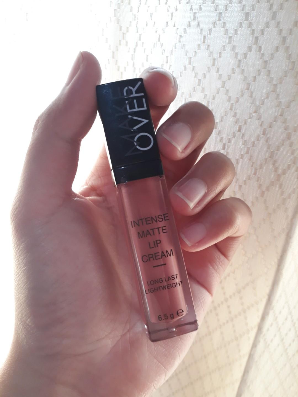 Make Over Intense Matte Lip Cream Shade 003 Secret Health Lipcream Beauty Makeup On Carousell
