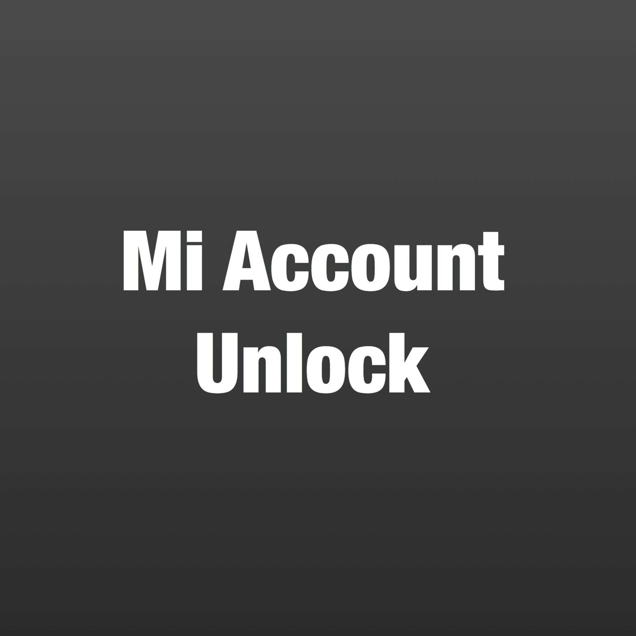 how to unlock mi phone with mi account