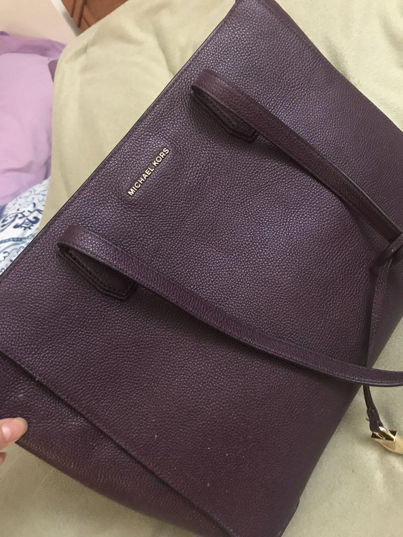 Michael Kors zippered tote