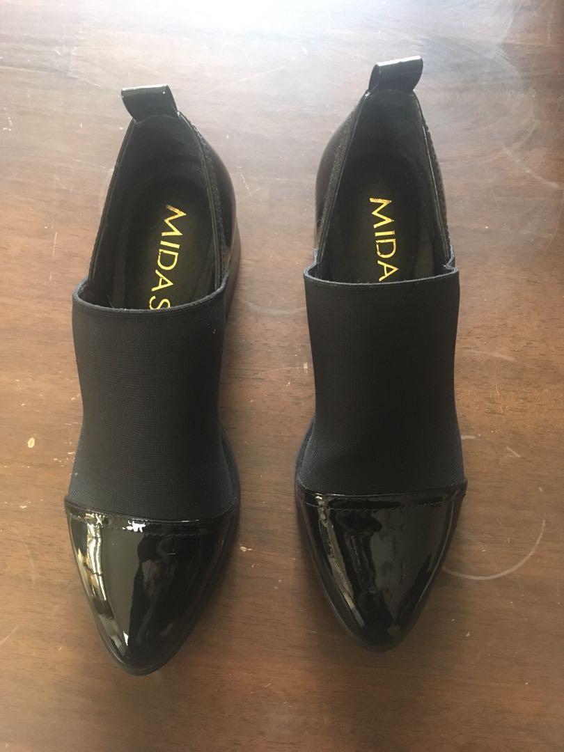 Midas elegant black shoes