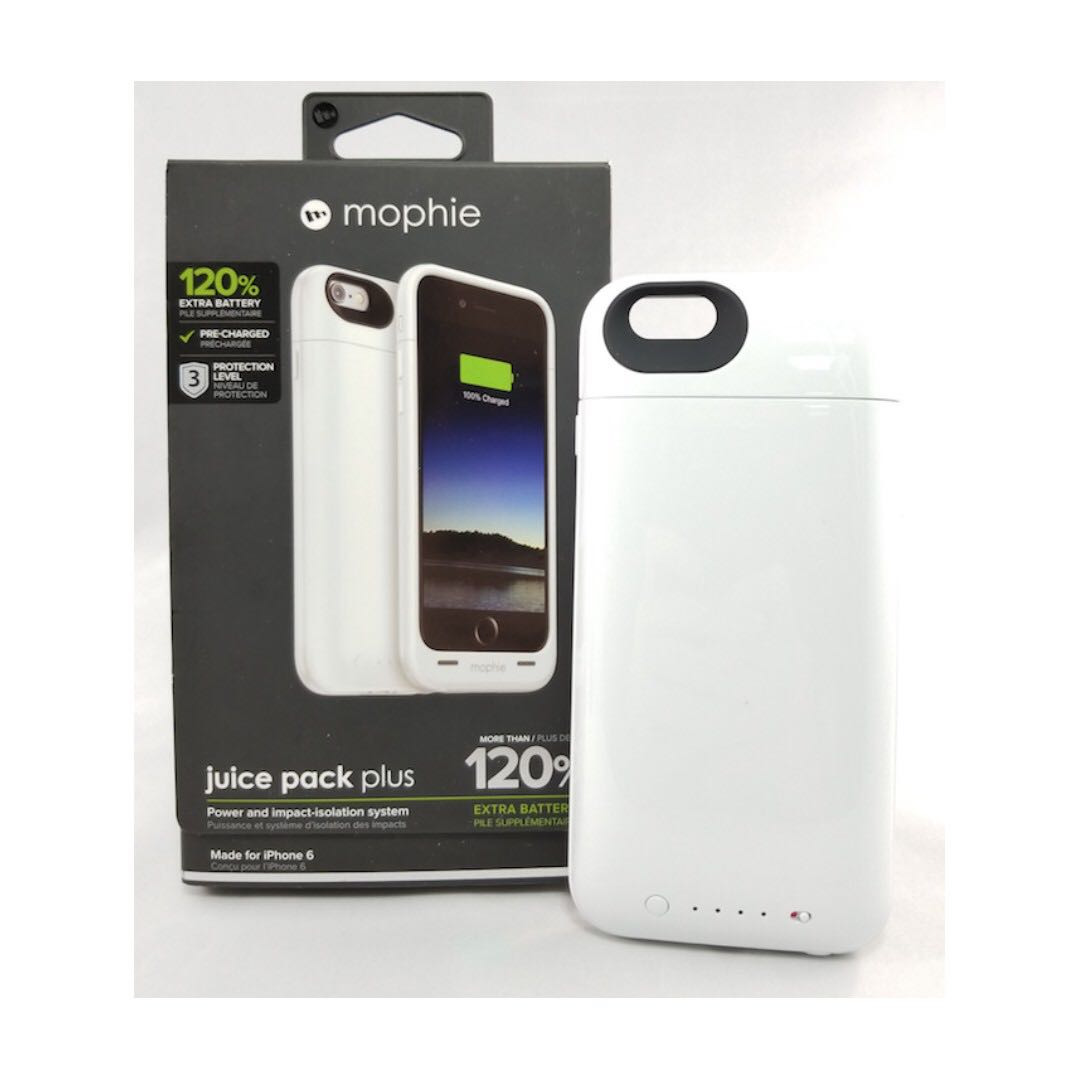 357b5a6d1 mophie Juice Pack iPhone 6 120% Extra Battery Case White, Mobile ...