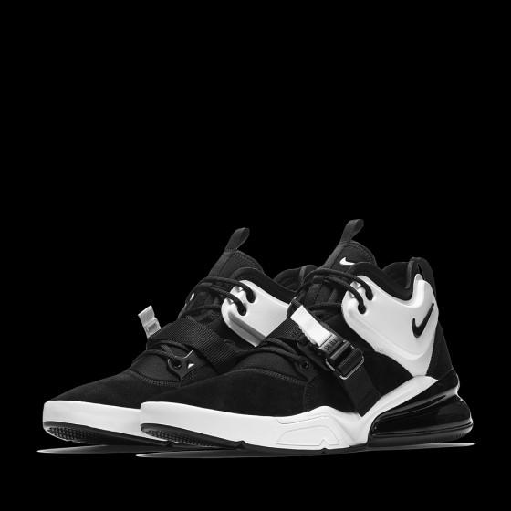 Nike Air Force 270  Black Metallic Silver  d3d405844