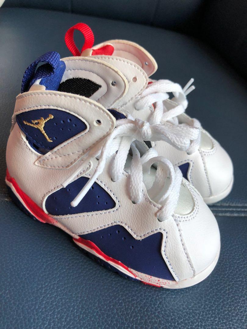 detailed look 81249 78b51 Nike Air Jordan 7 Olympic Bolt BABY SIZE 12 cm