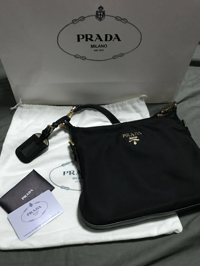 37542976166e ... ireland prada tessuto saffiano sling bag black luxury bags wallets sling  bags on carousell 008b9 d9a8b