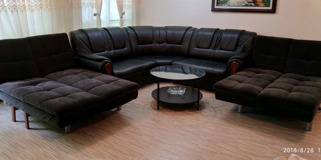 Price Drop Leather Sofa 2 Fabric