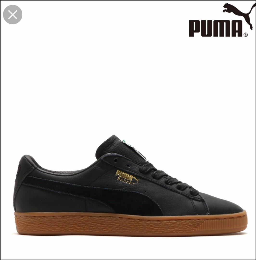 f81db7bd2dc Puma Basket Classic Gum Deluxe Black