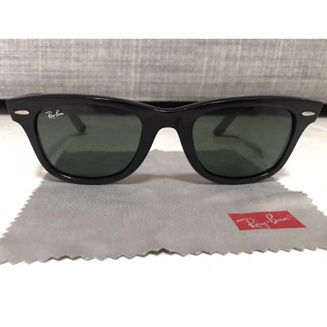 RayBan Original Wayfarer (lightly used), Men s Fashion, Accessories,  Eyewear   Sunglasses on Carousell c761756d1d41
