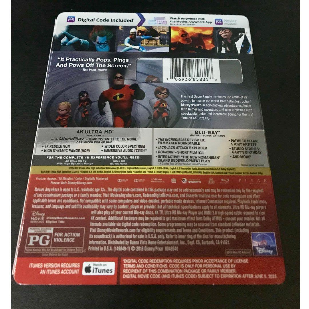 The Incredibles 4K Ultra HD + Blu-ray + Digital Code, Music