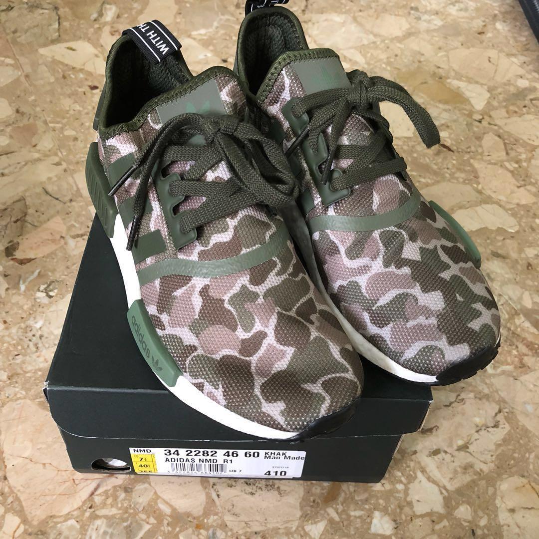 2ce01aaecd8a US 7.5 Adidas NMD R1 Green Camo
