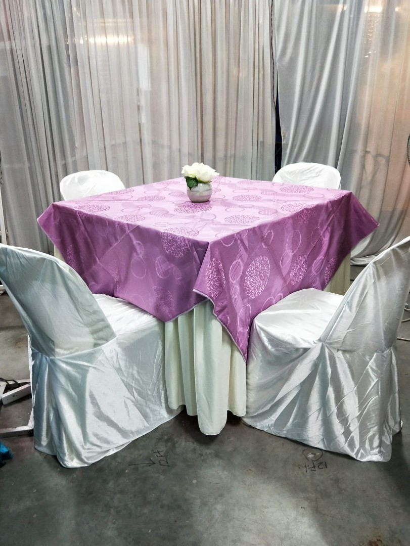 Carousell & Wedding table skirting/ chair cover rental Everything Else on Carousell