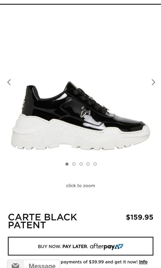 Windsor Smith Carte Sneakers Patent Black
