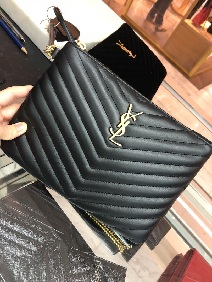 Discover cheaper sale hot-selling newest YSL pouch, Luxury, Bags & Wallets, Others on Carousell