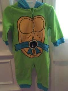 Ninja Turtle onesies with the hood