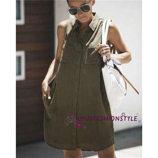 BN Army Green Dress