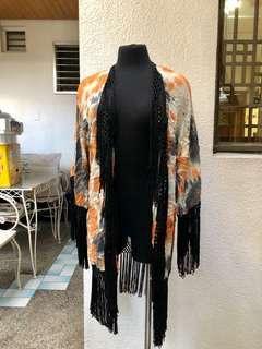 Topshop Kimono Fringe Robe