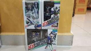 Nxedge Gundam 00 set, exia, raiser and quanta