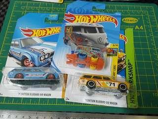 Hotwheels Wagon 510 & Kombi