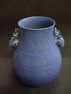 乾隆藍釉獸紋尊-高450+直径350