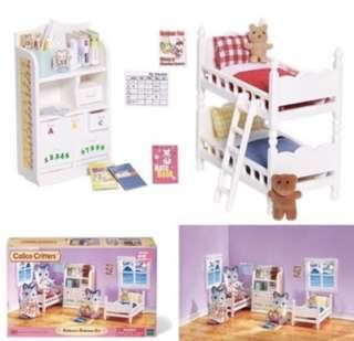BNIB EPOCH Sylvanian Families Calico Critters: Children's Bedroom Set