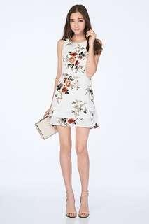 TCL Erin Floral Dress in White