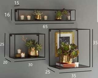 Pre order display shelves 1 set 3pcs
