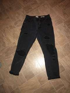 Vintage black ripped jeans