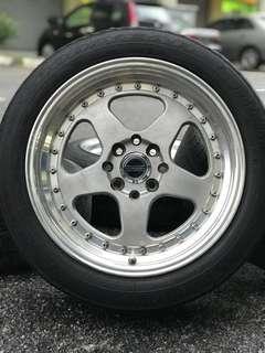 Rotiform 16 inch sports rim alza tyre 70%