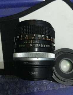 lensa 50mm 1.4 canon manual