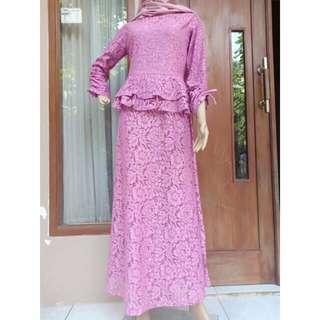 Harga nett sale on sale dress brukat baru premium