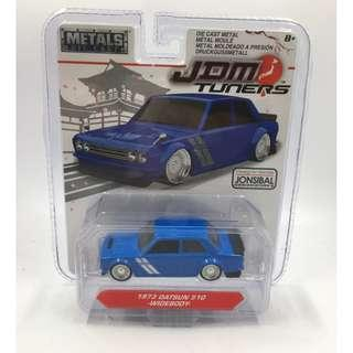 JDM TUNERS 1:64 SCALE 1973 DATSUN 510 BLUE - WIDEBOY BY JADA TOYS