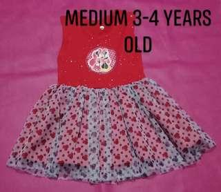 Tutu dress for 3-4 years old on-hand