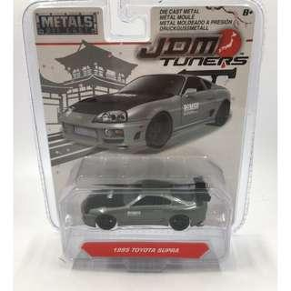 JDM TUNERS 1:64 SCALE 1995 TOYOTA SUPRA GRAY BY JADA TOYS