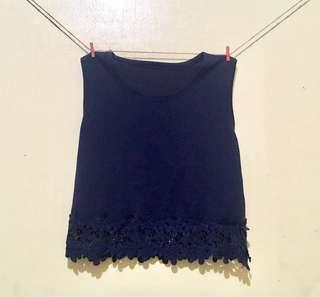 Navy-blue Sleeveless Top