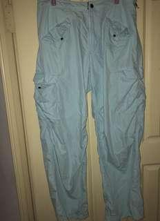 🚚 古著oneill粉藍工作褲💙