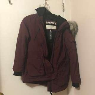 Garage maroon winter jacket