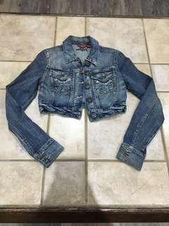 GUESS Cropped Denim Jacket (S)
