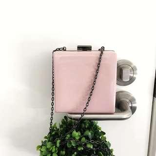 ASOS mini pink clutch