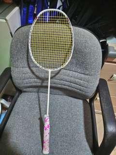 羽毛球拍超輕碳纖維拍已拉新線專門訓練用<完美者勿擾>