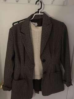 Plaid blazer jacket