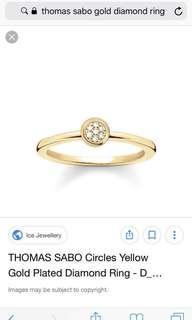 Thomas Sabo Gold Rings w/ Diamonds