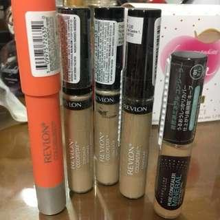 Revlon and Maybelline Concealers and Matte Balm